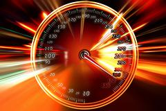 night zoom acceleration motion - stock illustration