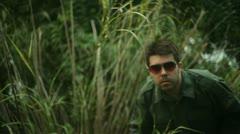 Viet nam vietnam soldier in jungle bush Stock Footage