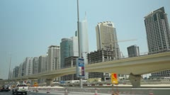 Sheikh Zayed Road Arm1 normal motion 50p Stock Footage