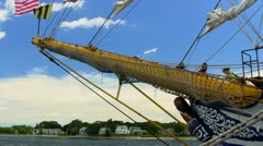 Dewaruci tall ship bowsprit figurehead Stock Footage