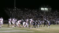 High School Football Night Game ED Stock Footage