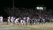 High School Football Night Game Stock Footage