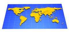 map of earth - stock illustration