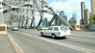 Stock Video Footage of Busy Bridge Traffic