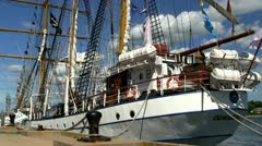 Indonesian tall ship Dewaruci; 5 Stock Footage