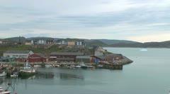 Greenland Qaqortoq town timelapse p Stock Footage