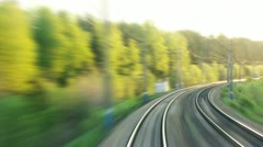 Stock Video Footage of Railroads journey