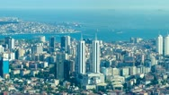 Stock Video Footage of ISTANBUL, TURKEY: Timelapse aerial view to Istanbul and navigation on the