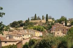 village of bedoin, france - stock photo