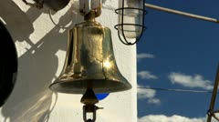 Tall ships brass bell Stock Footage