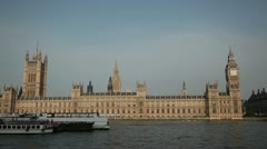 Houses of Parliament straight on wide-shot - stock footage