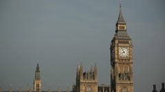 Houses of Parliament featuring Big Ben straight on mid/close-shot - stock footage