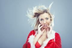Female santa Stock Photos