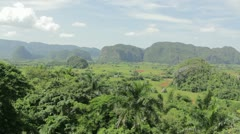Tropical landscape Stock Footage