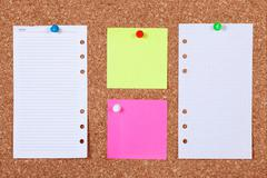 Stock Photo of notes on corkboard