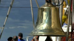 Ships bell close-up Stock Footage
