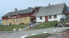 Greenland Qaqortoq houses Stock Footage