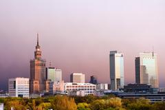 City of Warsaw in Poland Stock Photos