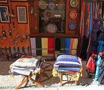 lindos merchandise  rhodes greece - stock photo