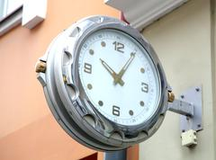 Large clock Stock Photos