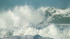 Ocean big wave - stock footage