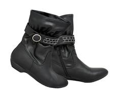 female ankle boots - stock photo
