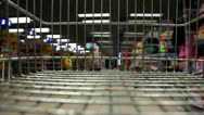 Shopping with Cart Time Lapse Stock Footage