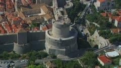 Dubrovnik aerial Minceta Stock Footage