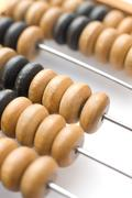 abacus counting beads - stock photo
