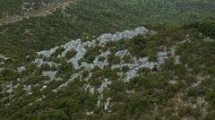 Island Mljet aerial Stock Footage