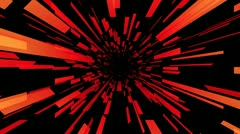 Red tunnel Stock Footage