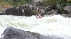 KAYAKING ON THE GAULEY RIVER Stock Footage