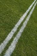 Boundary lines of a playing field, diagonal Stock Photos