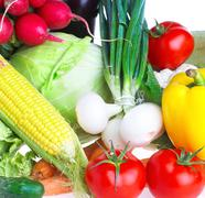 vegetables. healthy food - stock photo