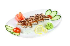 Stock Photo of unagi sashimi