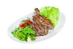 Roast veal on the white Stock Photos