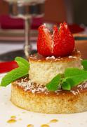 Tasty dessert on a table at restaurant Stock Photos