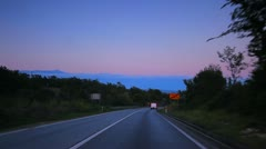 Car driving time lapse nature Apple Pro Res - stock footage
