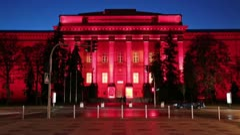 Red building of Kiev National University, Ukraine Stock Footage