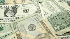Dollar bills Stock Footage