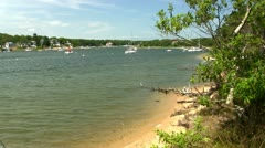 Washburn island beach Stock Footage