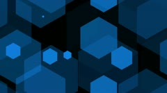 hexagon blue - stock footage