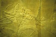 Assyrian lion hunt of ashurbanipal Stock Photos
