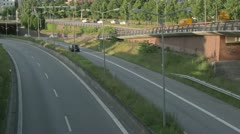 Autobahn in hamburg, time lapse. Stock Footage