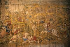 Tapestry, battle againts the turks Stock Photos