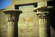 Stock Photo of column detail with egyptian hieroglyphics