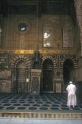 Imam leading prayers at mosque Stock Photos