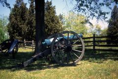 napoleon, 12 lb cannon, confederate lines, .. - stock photo