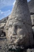 Zeus head statue at nemrut dag Stock Photos