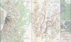 Map of battles of gettysburg.. Stock Photos